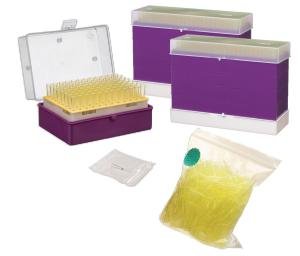 Pipette tips, low retention