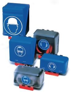 Dispensers for personal protective equipment