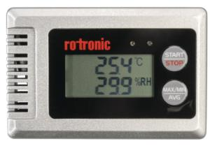 Compact temperature and humidity logger