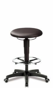 Laboratory stool, extra large seat (Ø 400 mm)